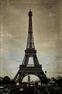 Vintage Eiffel Bronze Poster