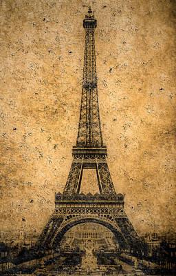 Vintage Eiffel Tower 1 Poster by Andrew Fare
