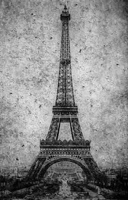 Vintage Eiffel Tower 2 Poster by Andrew Fare