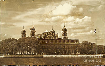 Poster featuring the photograph Vintage Ellis Island by Eleanor Abramson