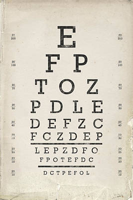 Vintage Eye Chart Poster by Industrial Prints