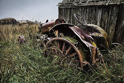 Vintage Farm Tractor Color Poster
