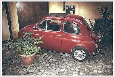 Vintage Fiat 500 Poster by Stefano Senise