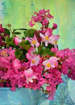 Vintage Floral Poster by Carla Parris