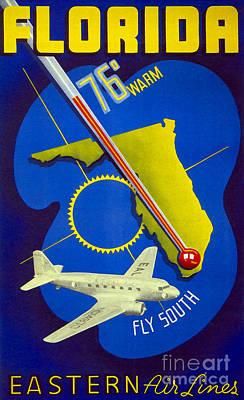 Vintage Florida Travel Poster Poster