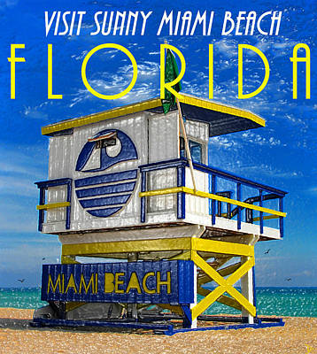 Vintage Florida Travel Style Artwork Poster