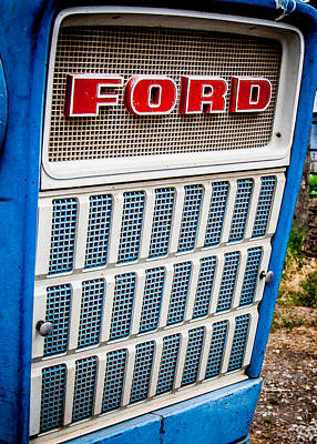 Vintage Ford Tractoy Poster by Dawn Romine