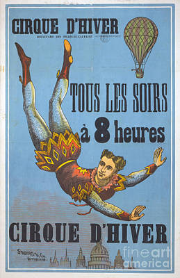 Vintage French Circus Poster Poster by Edward Fielding