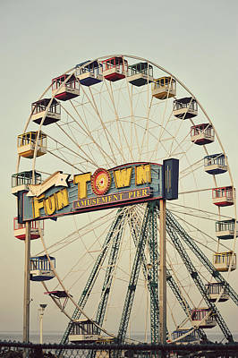 Vintage Funtown Ferris Wheel Poster by Terry DeLuco