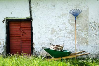 Poster featuring the photograph Vintage Garden Equipment by Kennerth and Birgitta Kullman