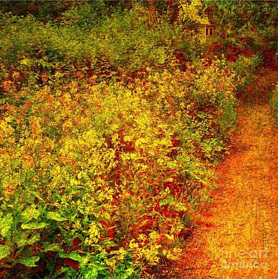 Poster featuring the photograph Vintage Garden Path by Terri Gostola
