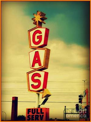 Vintage Gas Sign Poster