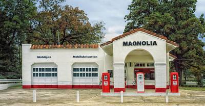Vintage Gas Station - Little Rock Arkansas Poster