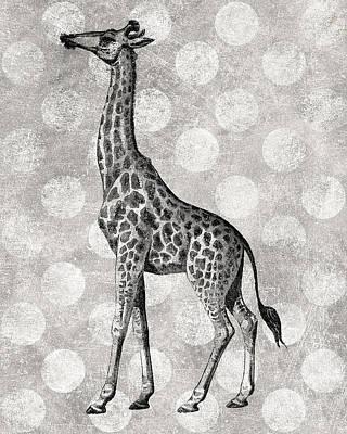Gray Giraffe Poster by Flo Karp