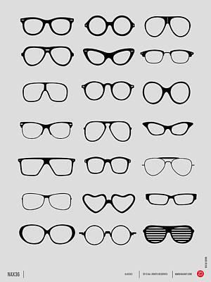 Vintage Glasses Poster 1 Poster by Naxart Studio