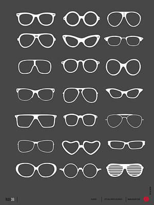Vintage Glasses Poster 2 Poster by Naxart Studio