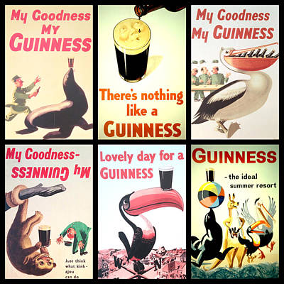 Vintage Guinness  Poster by Georgia Fowler