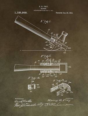 Vintage Hammer Patent Poster by Dan Sproul