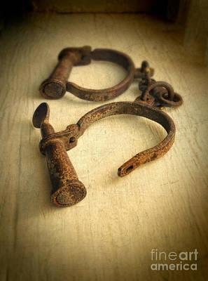 Vintage Handcuffs Poster by Jill Battaglia