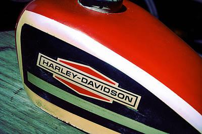 Vintage Harley Davidson Gas Tank Poster