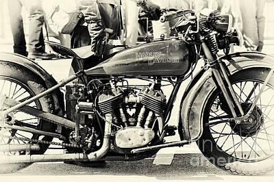 Vintage Harley Poster by Tim Gainey