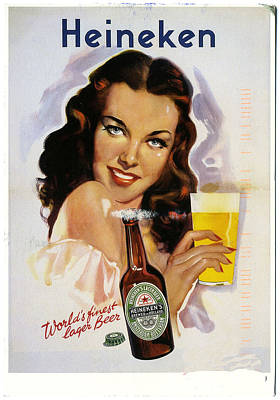 Vintage Heineken Beer Ad Poster by Allen Beilschmidt