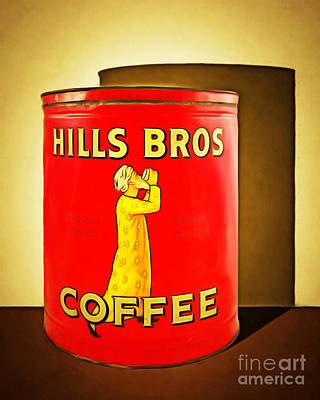 Vintage Hills Brothers Coffee 20140918brunaille Poster by Wingsdomain Art and Photography