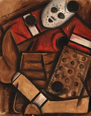 Ice Hockey Goalie Art Print Poster by Tommervik