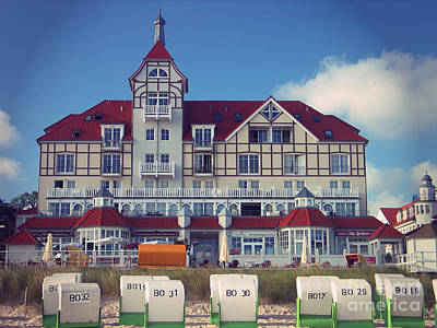 Poster featuring the photograph Vintage Hotel Baltic Sea by Art Photography