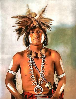 Taqui A Moki Snake Priest Poster by Vintage Image Collection
