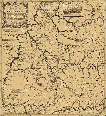 Vintage Kentucky Map Poster