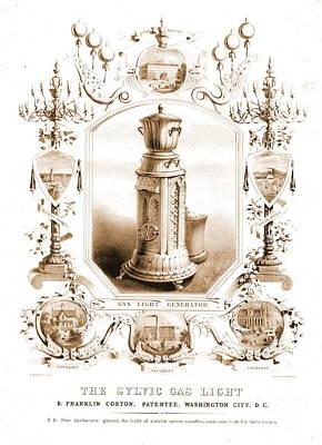 Vintage Lighting Ad 1840 Poster
