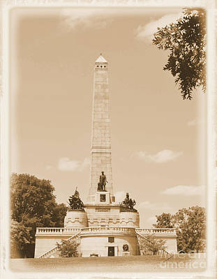 Vintage Lincoln's Tomb Poster by Luther Fine Art