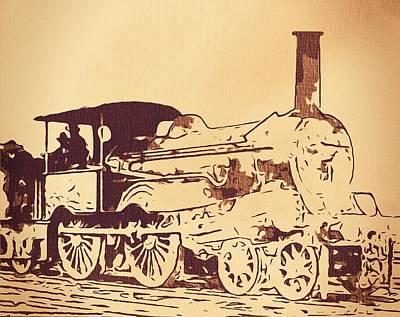 Vintage Locomotive Poster by Dan Sproul