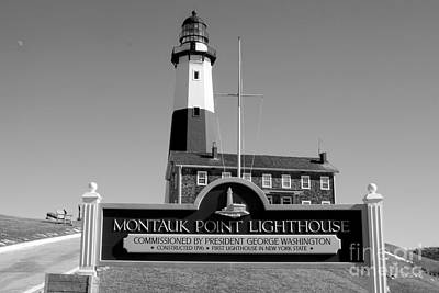 Vintage Looking Montauk Lighthouse Poster by John Telfer