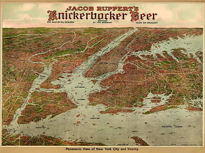 Vintage Map Of New York City 1929 Poster by Mountain Dreams
