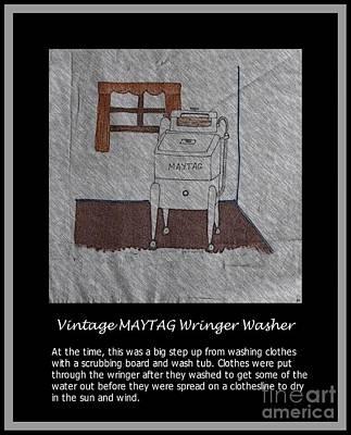 Vintage Maytag Wringer Washer Poster by Barbara Griffin