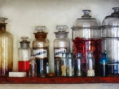 Vintage Medicine Bottles Poster