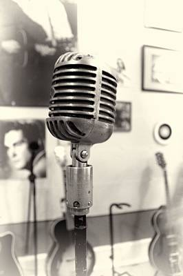 Vintage Microphone Sun Studio Poster by Dan Sproul