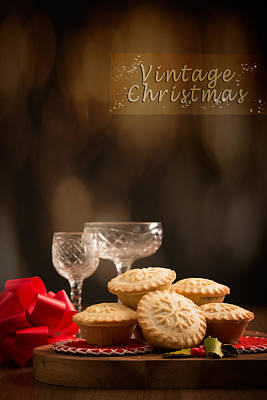 Vintage Mince Pies Poster by Amanda Elwell