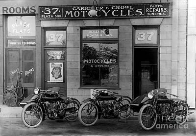 Vintage Motorcycle Dealership Poster by Jon Neidert