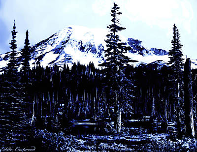 Poster featuring the photograph Vintage Mount Rainier Early 1900 Era... by Eddie Eastwood