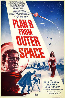 Vintage Movie Poster - Plan 9 From Outer Space Poster by Mountain Dreams