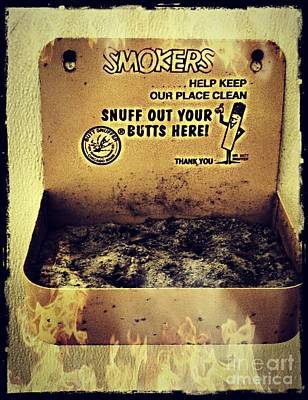 Vintage Mr. Butt Snuffer Ashtray Poster