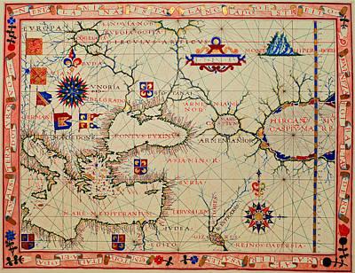 Vintage Nautical Chart - 1570 Poster