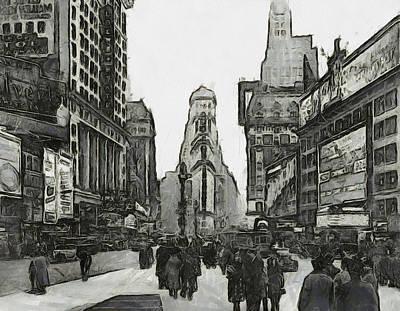 Vintage New York Poster by Arin Koleva