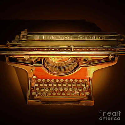 Vintage Nostalgic Typewriter 20150228 Square Poster by Wingsdomain Art and Photography