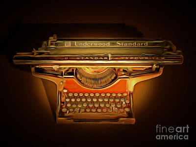 Vintage Nostalgic Typewriter 20150228 Poster by Wingsdomain Art and Photography