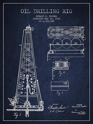 Vintage Oil Drilling Rig Patent From 1916 Poster by Aged Pixel