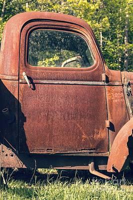 Vintage Old Rusty Truck Poster by Edward Fielding